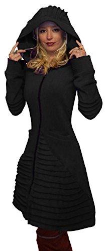 MAGIC MOON Damen Mantel schwarz schwarz