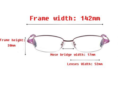 de femmes de lecture légères pour ultra Lunettes lunettes Purple lecture bleues dUHSWOWxwq