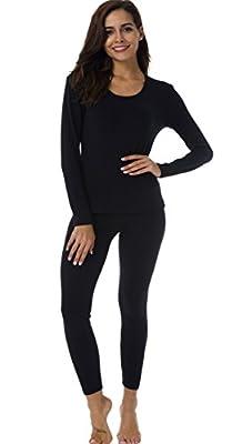 HieasyFit Women's Thermal Underwear Long Johns Fleece Lined Winter Base Layer Set