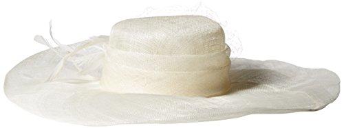 Scala Women's Solid Big Brim Sinamay Hat, Ivory, One Size