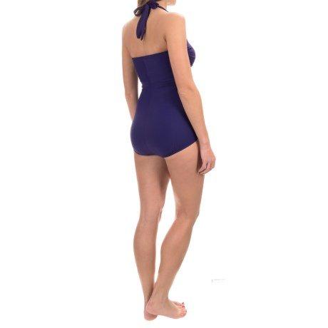 Miraclesuit Swimsuit, Size 14, Purple