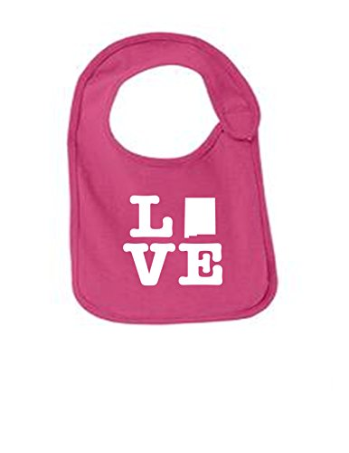 New Mexico Love Funny Infant Jersey Bib Sangria One - Sangria Santos