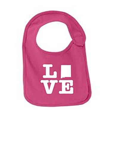 New Mexico Love Funny Infant Jersey Bib Sangria One - Santos Sangria