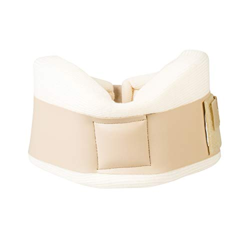 Core Products Foam Cervical Collar w/Vinyl Strap, Beige - - Inch 3 Collar Cervical Contoured