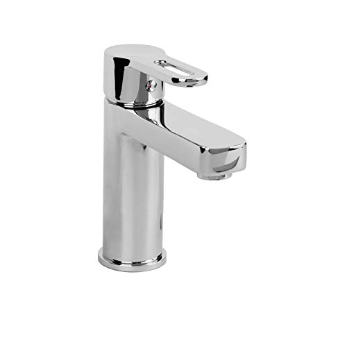MAYKKE Allegro Single Hole Sink Faucet Modern Single Lever Faucet for Bathroom Lavatory, Kitchen 1.2 GPM, cUPC certified Polished Chrome - Single Allegro