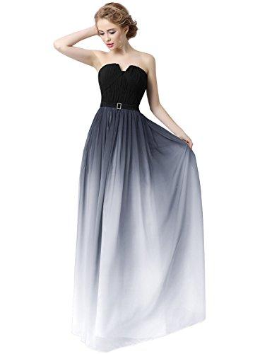 Farbverlauf Abendkleid Bandage Chiffon Clearbridal Damen Brautjungfer UK8 SD231 Maxikleid Formale Kleid fq7wnPnpI