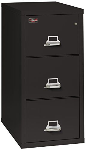 FireKing Fireproof 2 Hour Rated Vertical File Cabinet (3 Legal Sized Drawers, Impact Resistant, Waterproof), 43.44