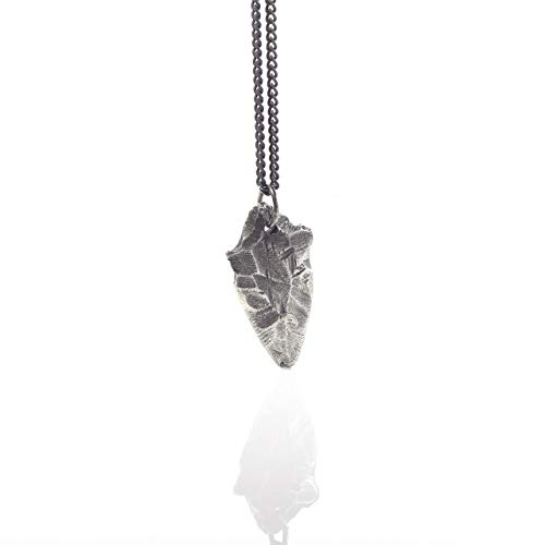 Mens Necklace Arrowhead Necklace Sterling Silver