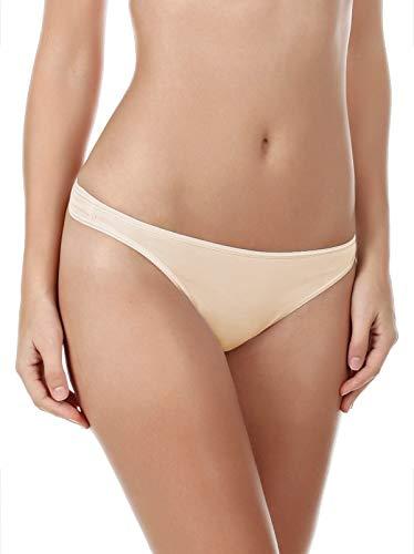 Felina Women's Smooth Thong 3 Pack, Bare, Medium (Garter Felina)