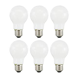 SYLVANIA General Lighting 40818, Soft White SYLVANIA LED A19 Natural Light Series, 75W Equivalent, Efficient 11W, Dimmable, Frosted Finish, 2700K Color Temperature, 6 Pack