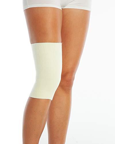 ArmoLine Calentador de rodilla de lana medica para artritis, artritis y dolorosas, calentador termico de piernas para hombres y mujeres, 1 pieza (mediano)