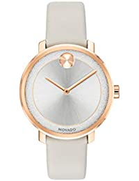 Womens Bold Sugar Dial Rose Gold Watch with a Flat Dot, Gold/Pink/