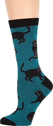 Socksmith Black Cat Blue 9-11 (Women's Shoe Sizes 5-10.5)