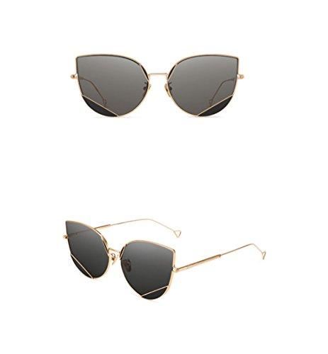 de lunettes A couleur de QQB des correspondant Métal Frame Couleur soleil de de Lunettes B Cat mode lunettes Transparency soleil Eye soleil lunettes Nylon X666 SatawqP