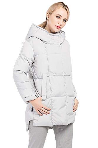 Con Laterali Invernali Tasche Lunga Huixin Grau Donna Colore Con Cerniera Puro Giacca Trapuntata Outerwear Cappuccio Costume Giacca Trench Calda Manica Casual Baggy Pvf8vw