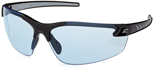 Edge Eyewear DZ113-G2 Safety Glasses, Black with Light Blue Lens