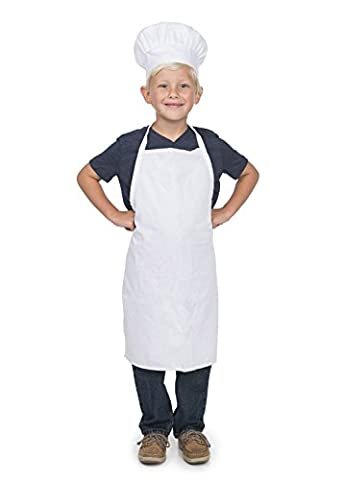Chef Set Apron and Hat Youth White - Childrens Chef Hat