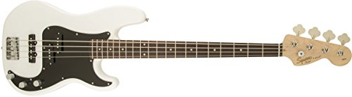 Squier by Fender Affinity Series Precision Beginnger Electric Bass – PJ – Olympic White (Renewed)