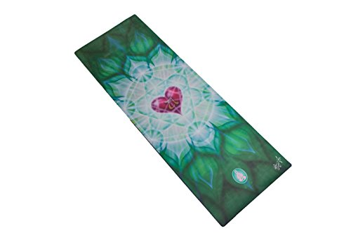 Cheap Spiritual Revolution Yoga Combo Mat – Luxury Mat and Towel That Grips While You Sweat. No Slip, PVC Free, and Machine Washable, Heart Chakra