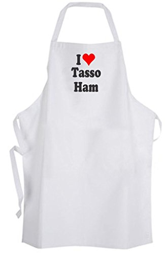 - I Love Tasso Ham Adult Size Apron South Louisiana Cuisine Food Chef Cook Kitchen