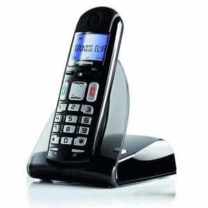 Sagem Grundig Elya DECT Identificador de llamadas Negro - Teléfono (Teléfono DECT, 50 m, 300 m, Escritorio, Negro, Digital)