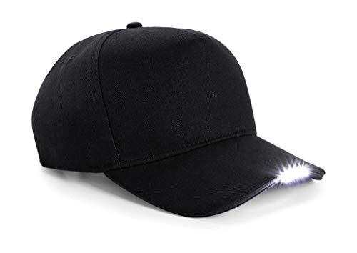 B515 Size Gorra Black One Beechfield luz LED qwRfnBxxXt