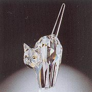 "Authentic Swarovski Crystal Figurine: 2"" tall TomCat - Collectible No.198241 (Retired) Made in Austria"