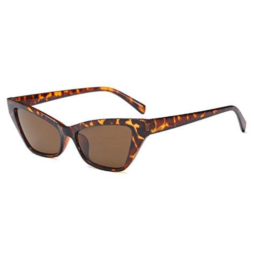 sol Gafas sol vintage Leopardo marco de elegantes sol pequeño de Aiweijia Gafas Gafas de de de estilo retro Patrón HwPq1A