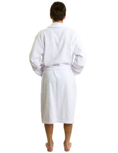 TowelSelections Terry Cloth Bathrobe - Shawl Collar Terry Robe for Women and Men, 100% Turkish Cotton, Made in Turkey (White,S/M) by TowelSelections (Image #4)