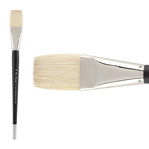 Creative Mark Pro Stroke Premium Artist White ChungKing Hog Bristle Paint Brush - Flat 16 by Creative Mark