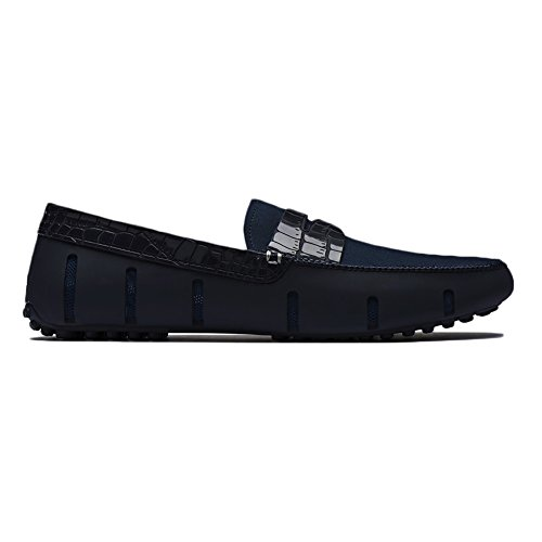 New Swims Penny Loafer Alligator Navy 9 Mens Shoes by SWIMS