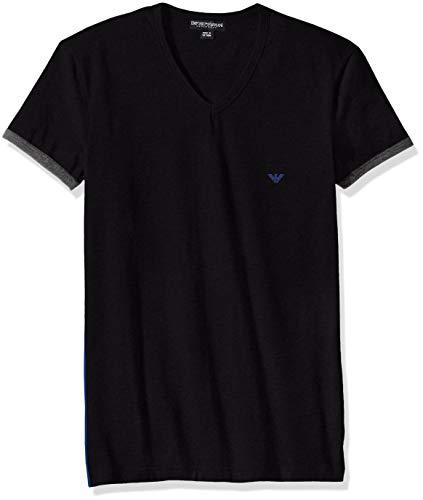 - Emporio Armani Men's Athletics Stretch Cotton Vneck T-Shirt, Black Medium
