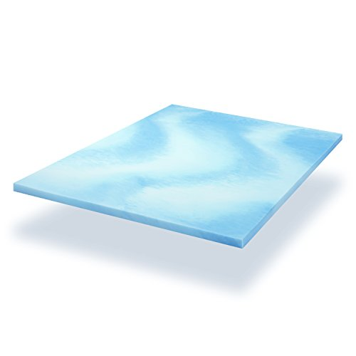 inch thick gel infused visco elastic queen memory foam mattress pad