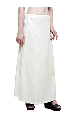Aurielle Rogisse Mujer India Sari Algodón Enagua Bollywood Solid Inskirt Costuras Forro Enaguas Beige