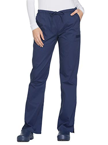 Cherokee Workwear Core Stretch WW130 Mid Rise Drawstring Pant Navy M