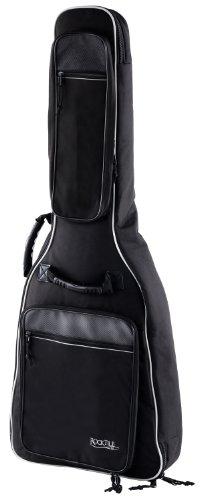 Rocktile 4/4 Klassik-Gitarrentasche Deluxe - gepolstert mit Rucksackgarnitur Gigbag für Konzertgitarre Schwarz