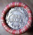 Unsearched Roll of Barber Dimes (Barber Dime Roll)