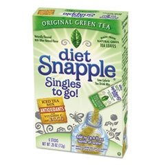 Snapple® Iced Tea Singles To-Go, Diet Green Tea, 0.25 Oz Stick, 6/Box