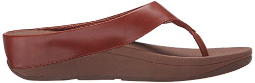 FitFlop Ringer Toe Post - Urban White/Beige Sole Bronceado oscuro