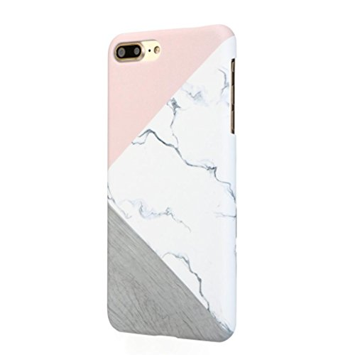 Price comparison product image Dreamyth for Iphone 7 plus , Marble Like Design Hard Case Slim Bumper Shockproof (Pink)