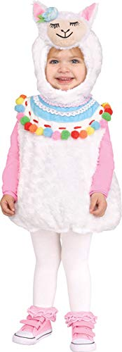 Fun World Lovely Llama Child Costume, Large 2T-4T, Multicolor