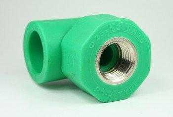 PPR Aqua de Plus – Racor en T para tubos de 25 mm y rosca interior