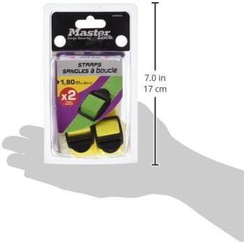 /couleurs assorties Masterlock 3005ecol Sangle darrimage avec boucle en plastique/