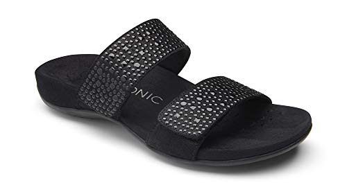 Vionic Women's Rest Samoa Slide Sandal Black 9M