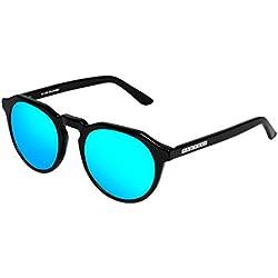 Hawkers Diamond Black Clear Blue Warwick X , Gafas de sol Unisex, Negro/Azul