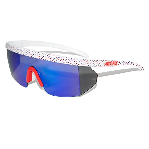 Meripex Apparel Unisex Sport Retro Vintage Mirrored Sunglasses (Cheaper than Pit Viper Sunglasses) (White Edition) ()