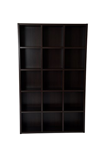 - Boraam 90010 Techny Collection Kline Hollow Core Bookcase, Espresso