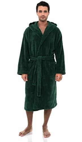 - TowelSelections Men's Robe, Plush Fleece Hooded Spa Bathrobe Large/X-Large Foliage Green