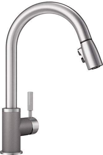 Cinder//Stainless Dual Finish Blanco 442065 Sonoma 2.2 Bar Sink Faucet