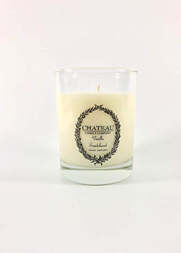 Vanilla Sandalwood Hand Poured Natural Coconut Soy Wax Candle 10oz | Small Batch | Handmade | Luxury Scented Vegan Candle | Perfect Christmas Holiday Gift